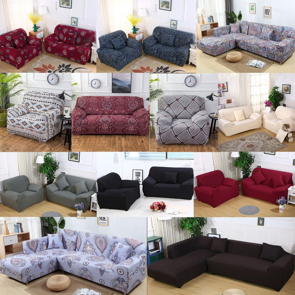Universal Stretch Chair Sofa Covers 1 2 3 4 Seater Protector Couch Slipcover Us Red Flower Ideas Of Slip Covers Couch Sofa Covers Couch Covers Slipcovers