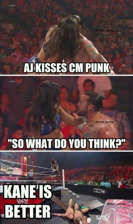 Wwe Aj Kisses And Tells Wwe Funny Wwe Memes Wrestling Wwe