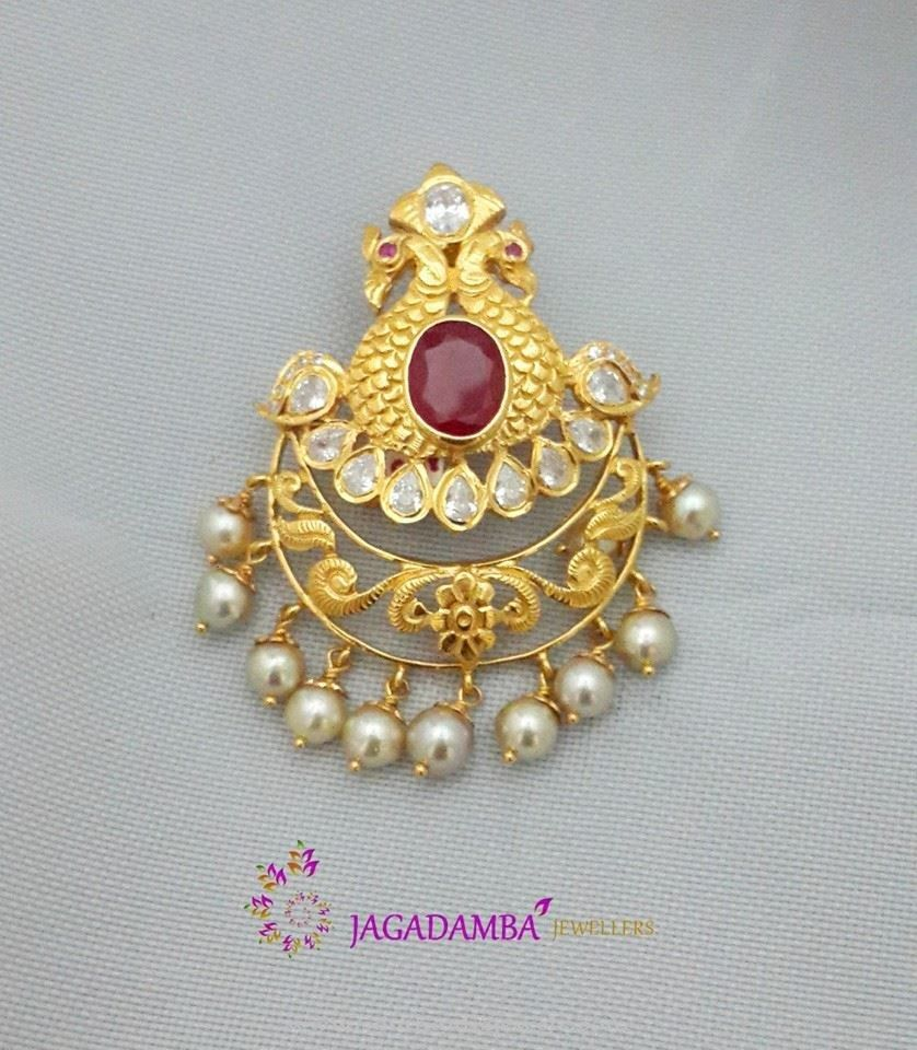 20 Grams Gold Pendant South India Jewels Gold Pendant Gold Pendent Gold Jewellery Design Necklaces