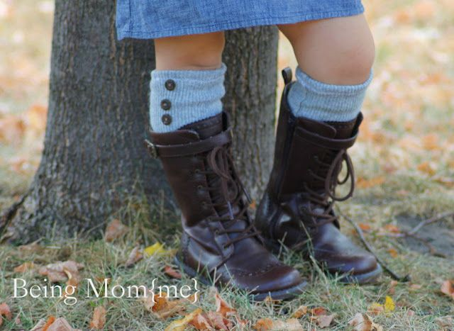Refashion a Sweater into Girls Boot Socks!!