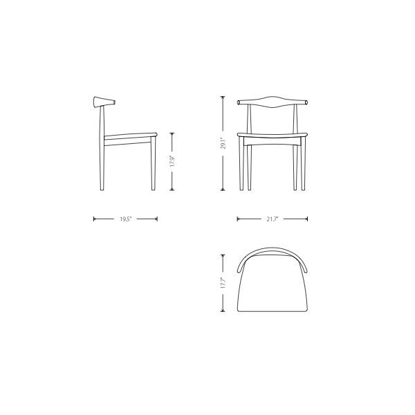 dining chairs dimensions | design ideas 2017-2018 ...