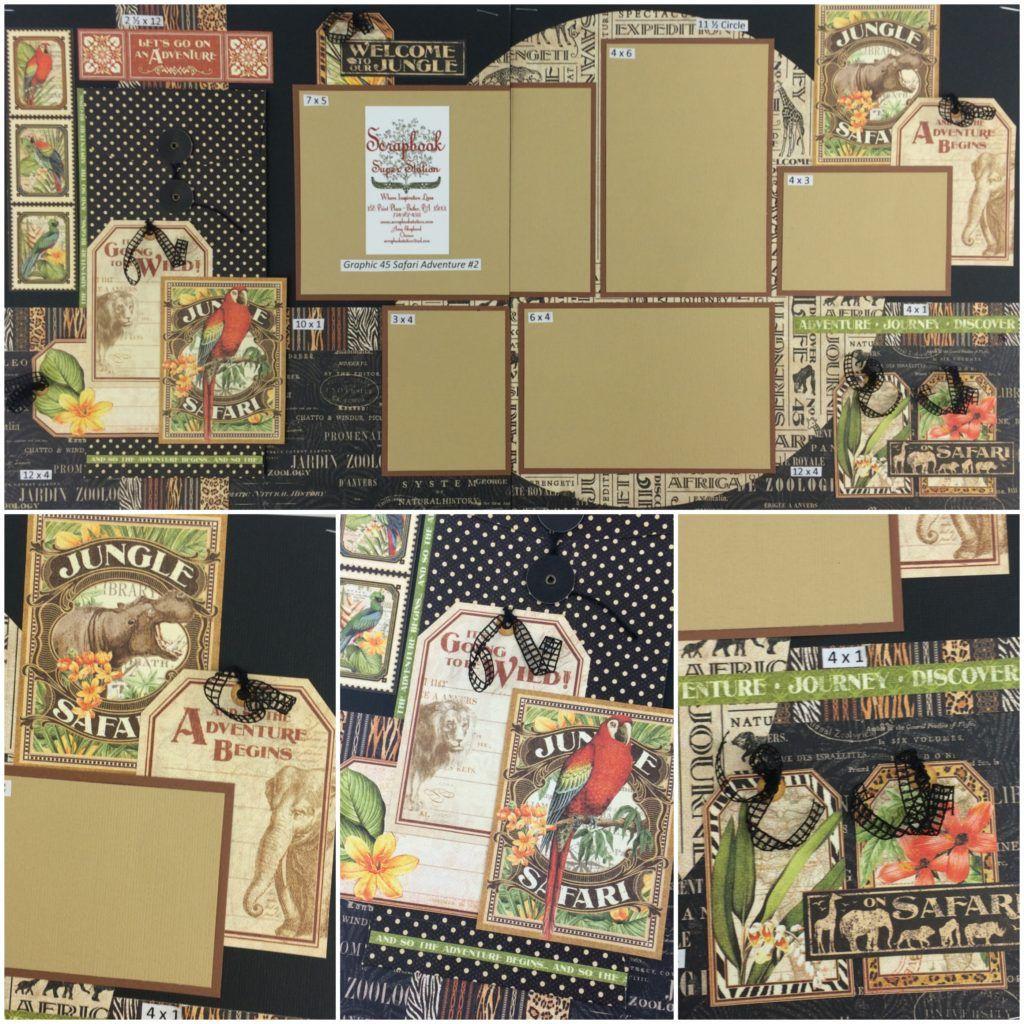 Jungle scrapbook ideas - G45 Safari Adventure 2 Best Place For Scrapbook Layouts Ever Www Scrapbookstation
