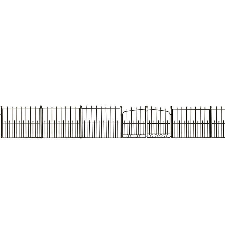 Shop no dig powder coated steel decorative metal fence panel at shop no dig powder coated steel decorative metal fence panel at lowes baanklon Gallery