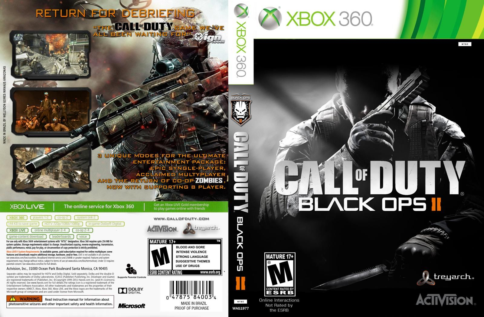 Call Of Duty Black Ops 2 Xbox Cover Playstation Xbox Nintendo