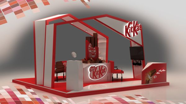Nestle Kit Kat 3D Booth Design 5 25 Innovative 3D Exhibition Designs,  Display Stands U0026