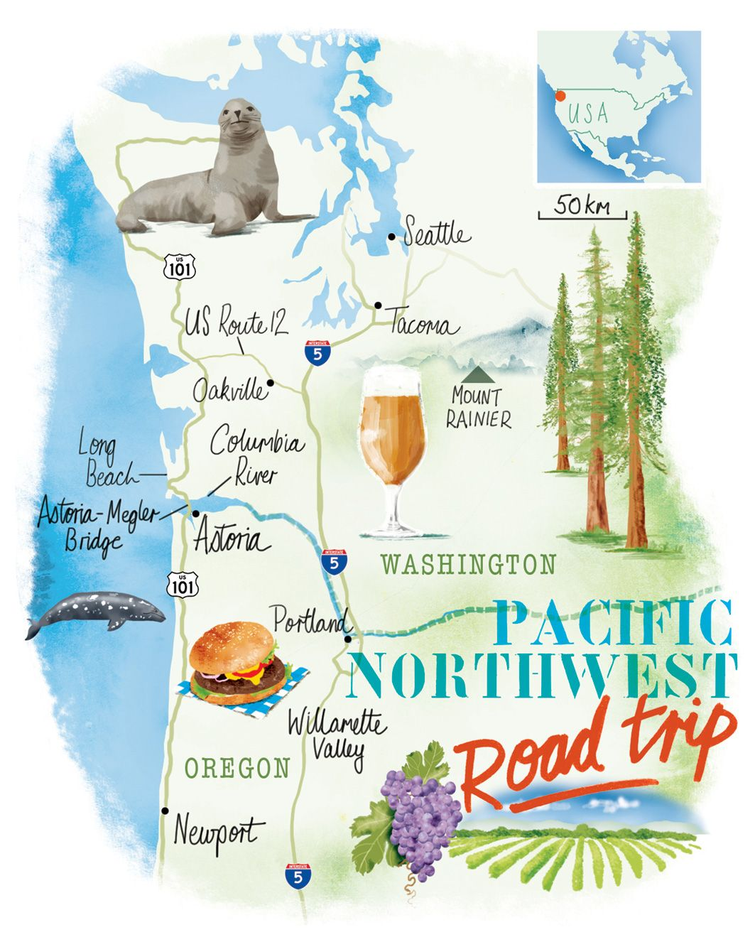 map of nw portland Pacific Northwest Map By Scott Jessop Seattle Portland map of nw portland