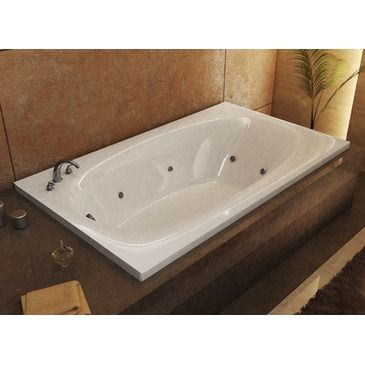 Atlantis Tubs 3666PDR Polaris 36 X 66 X 23   Inch Rectangular Air U0026 Whirlpool  Jetted Bathtub W/ Right Side Pump Placement