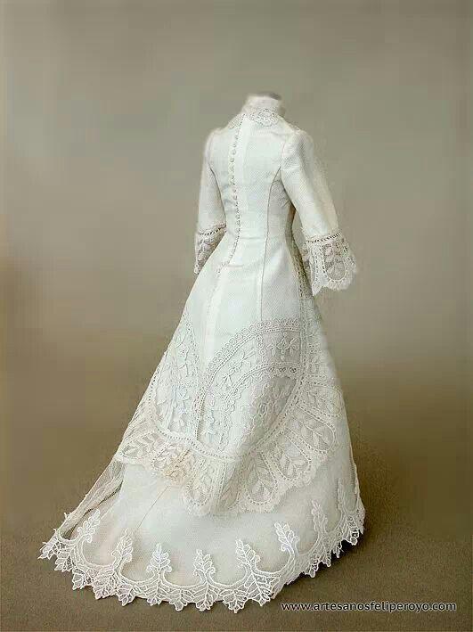 jurk met veel kant