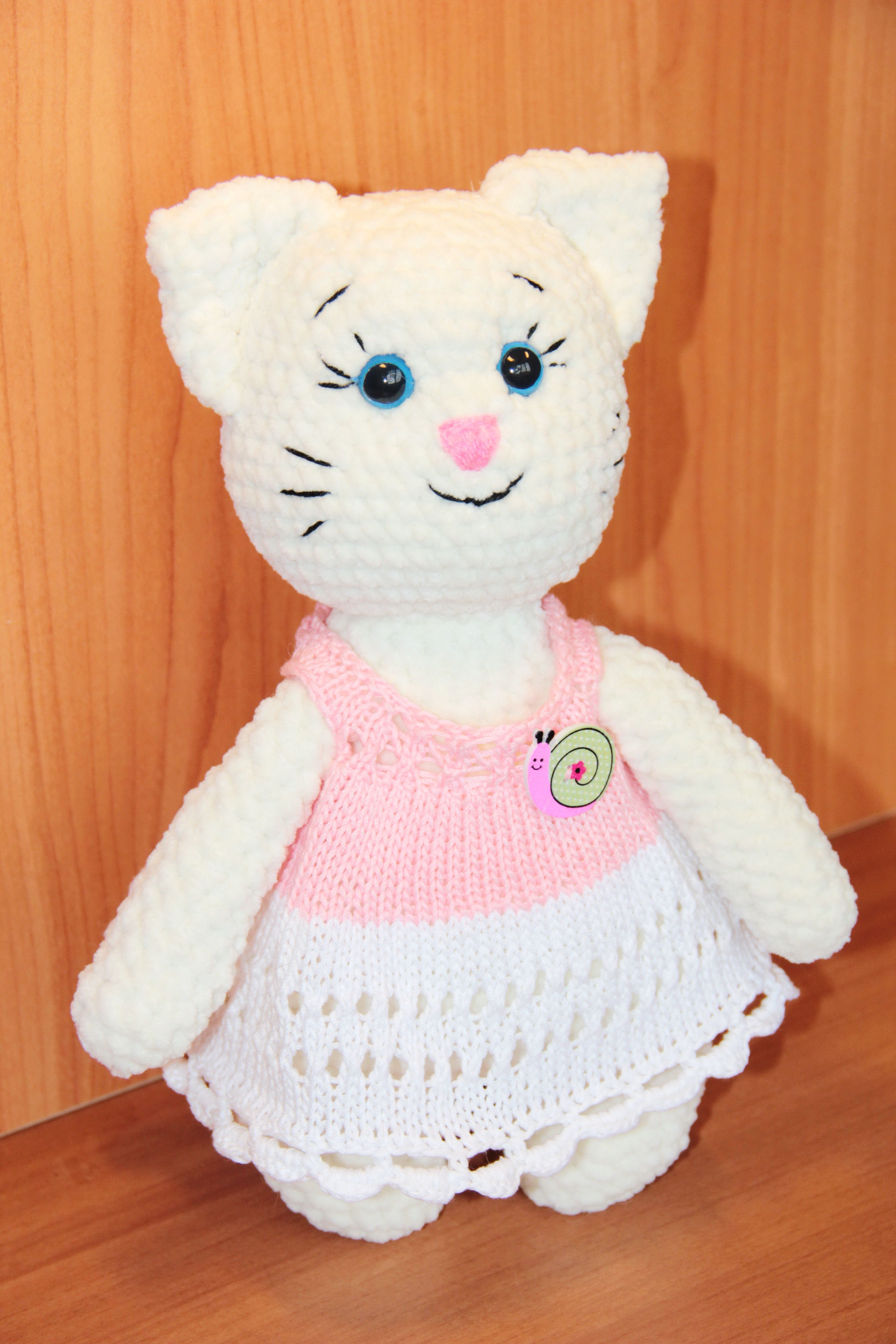 Cute Plush Cat Amigurumi For 1 Year Old Eco Friendly Stuffed Etsy Cat Soft Toy Stuffed Animal Cat Cute Plush