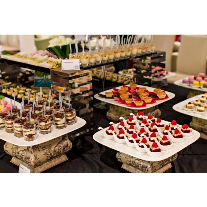 Wedding Reception Food Display: Wedding Catering By Big Onion Food Caterer #Desserts