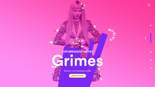 spotify gradient web design trends