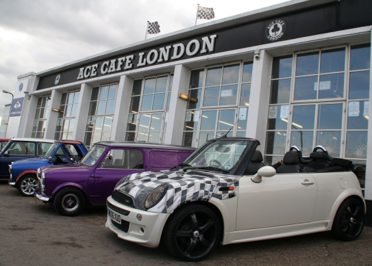 Mod 'n' Mini Meet at the Ace Cafe: Tradition Meets Turbo Charm