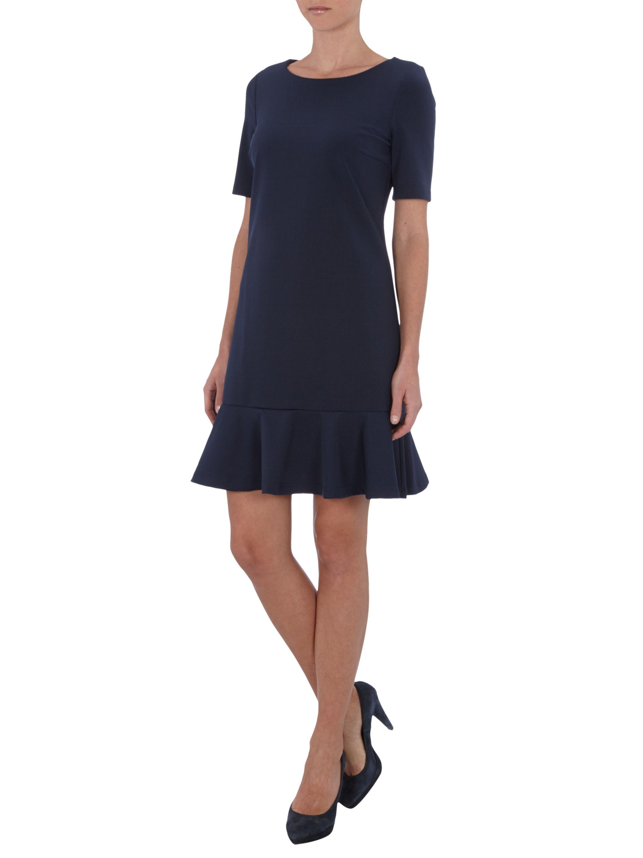 JAKE*S COLLECTION Kleid mit tief angesetztem Volant am Saum in