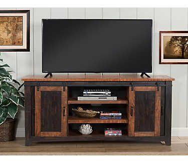 Taos 65 Black Tv Stand Art Van Furniture