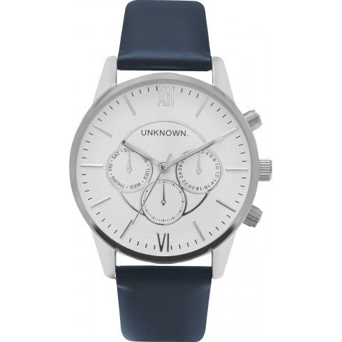 The Engineered White Dial Navy and Silver