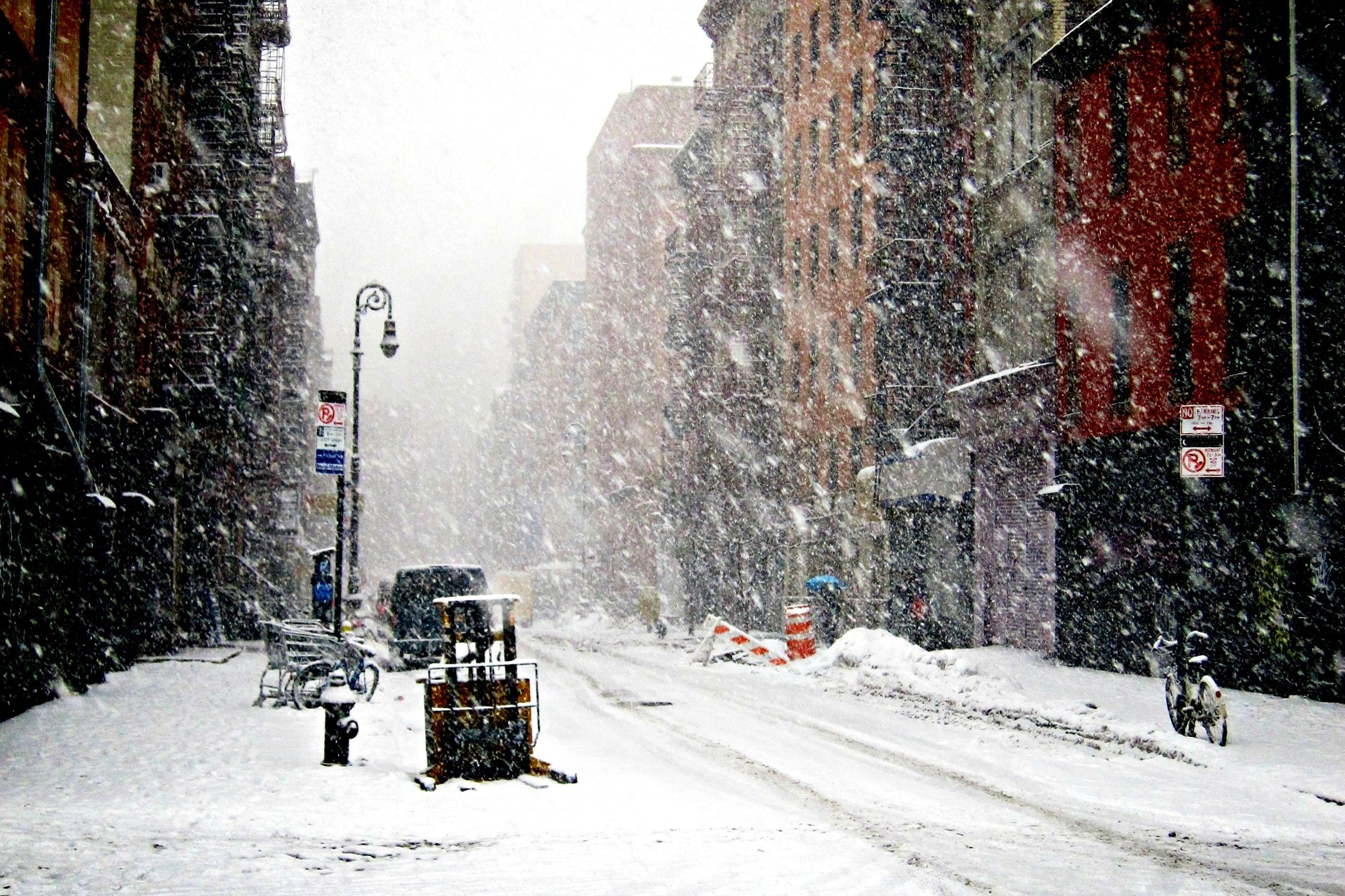 Snow Winter New York New York Wallpaper Background Cool Places To Visit New York Snow City Winter
