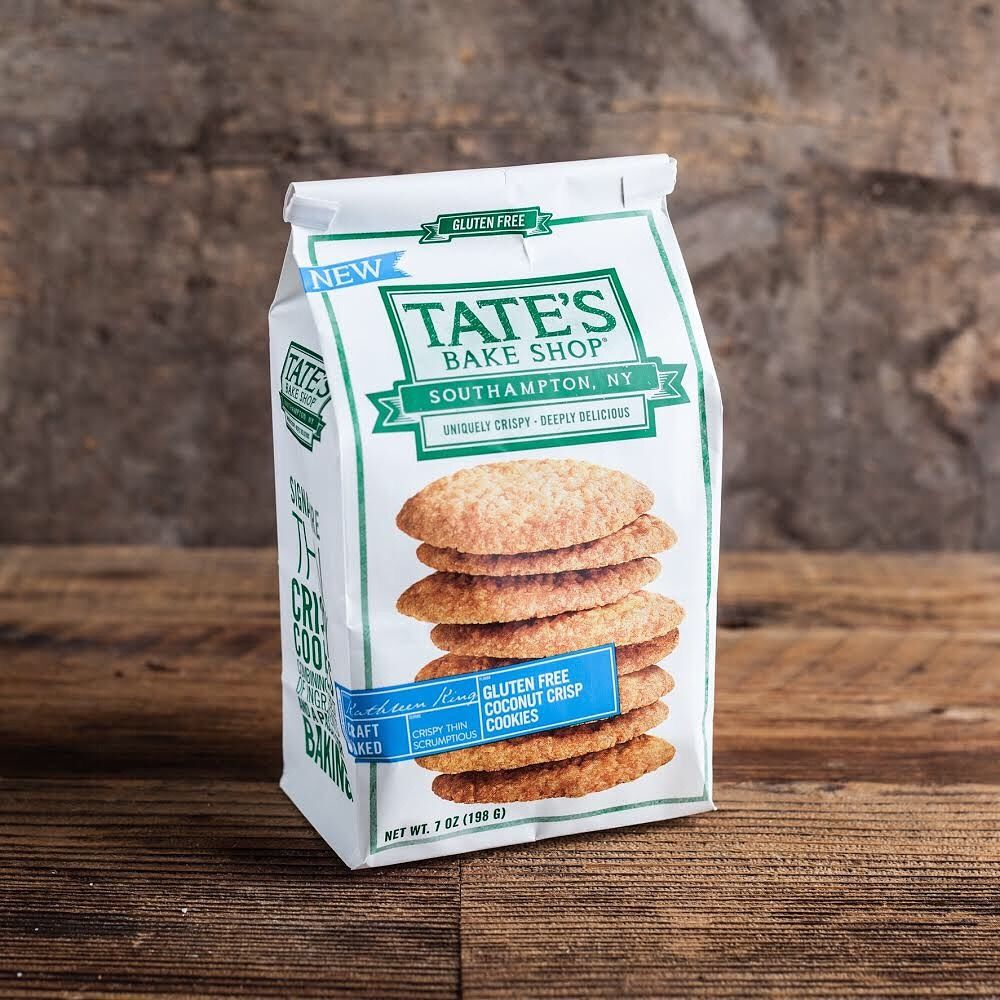 New glutenfree coconut crisp cookies from tates bake