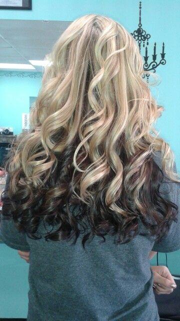Blonde Highlights To Dark Underneath Blonde And Dark Red Brown Hair Color Hair