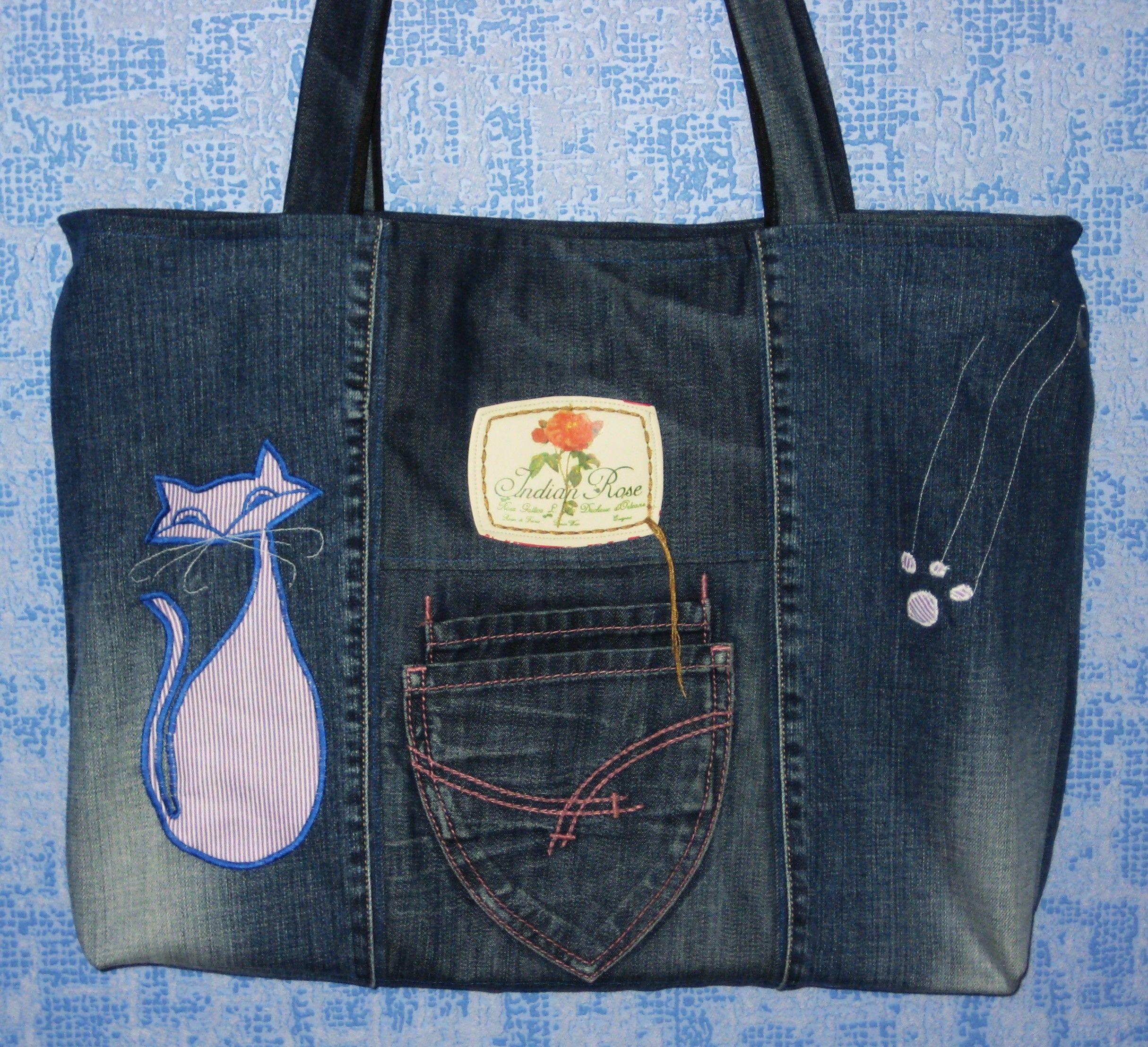 Сшить сумку из джинс своими руками мастер класс разные модели