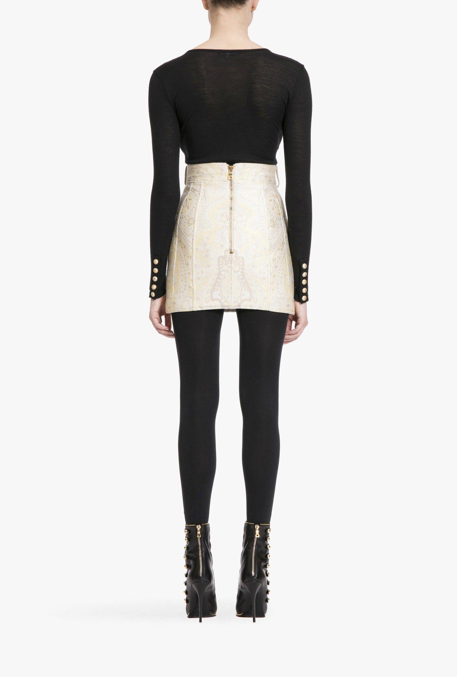 http://www.balmain.com/en_us/women/dresses-and-skirts/button-embellished-jacquard-mini-skirt.html