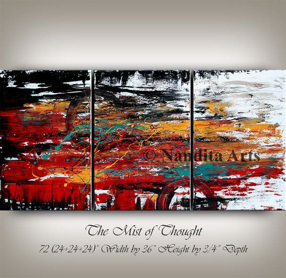 Check out my #Huge Original Red #Acrylic Painting by ...