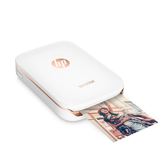 NEW HP Bluetooth Sprocket Printer Black Portable Smartphone Photos Birthday Gift
