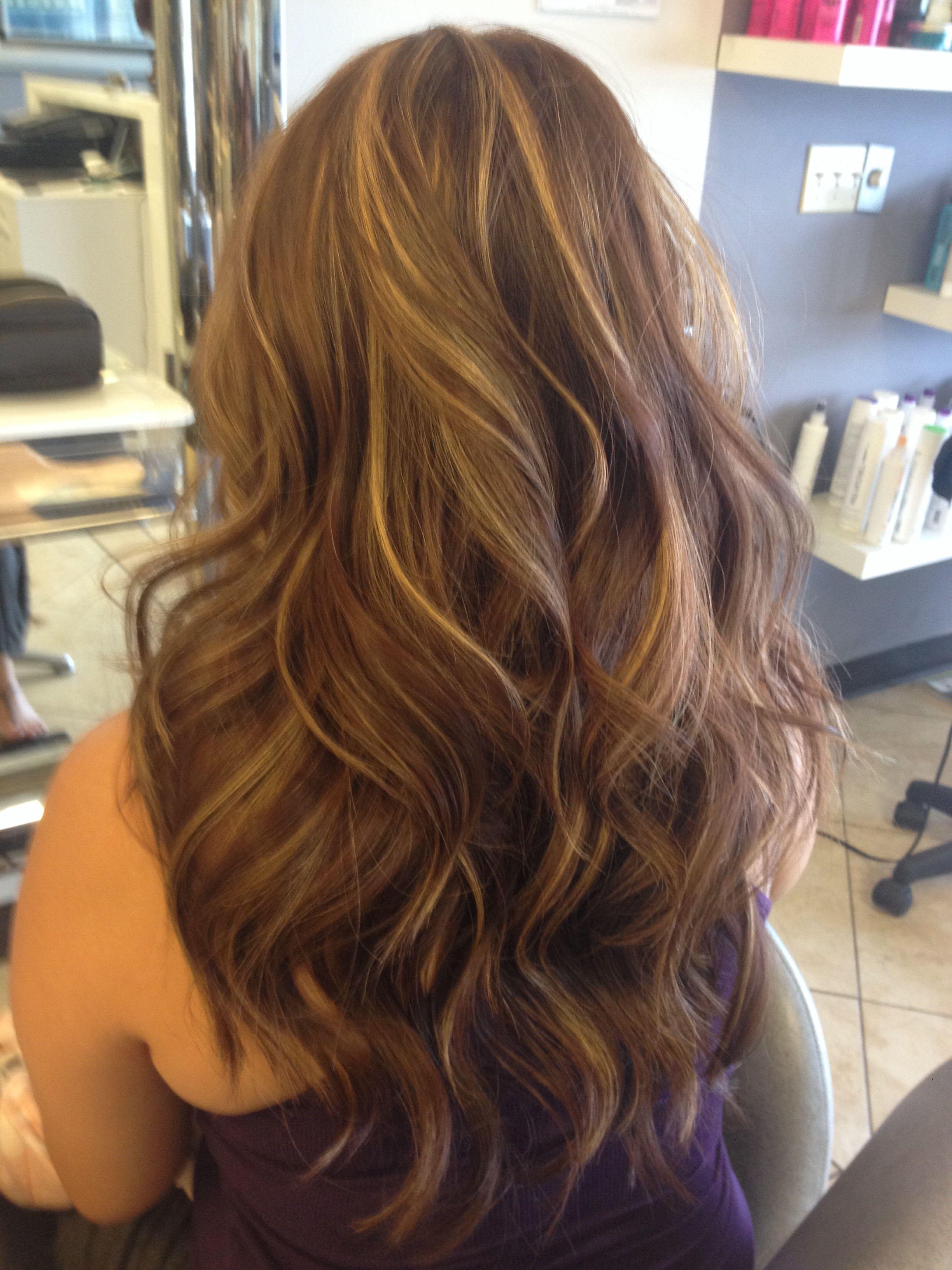 Burgundy hair with blondegold highlights hair color pinterest