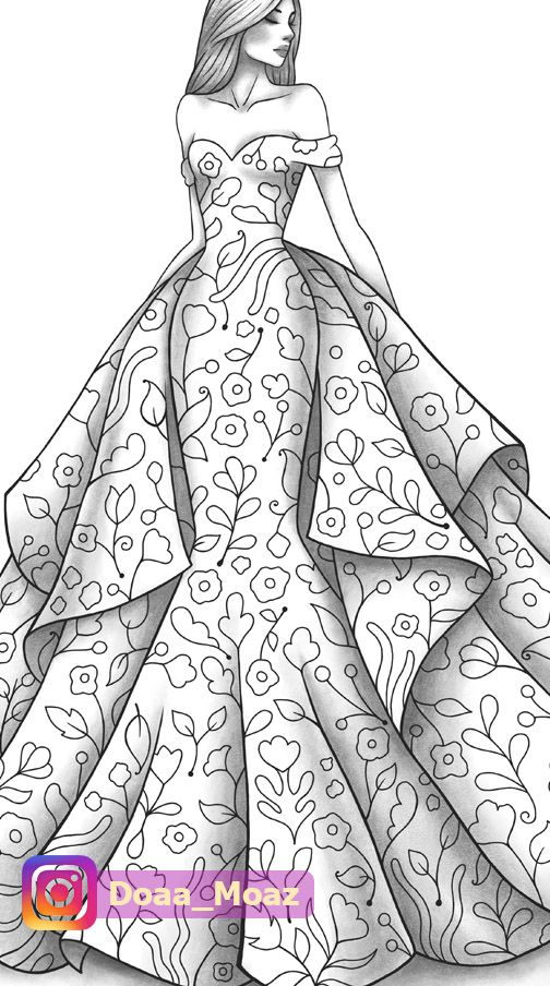 Pin By Claudia Andrade On Coloring In 2020 Illustration Fashion Design Fashion Illustration Cartoon Coloring Pages