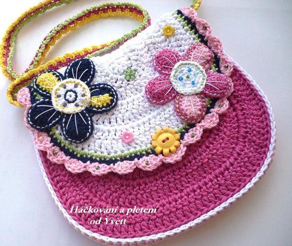 d30a2b2ac PATTERN - flower handbag - crochet pattern, purse, bag, PDF ...