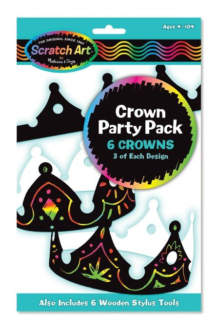 Amazon.com: Melissa & Doug Crown Scratch Art Party Pack: Toys & Games