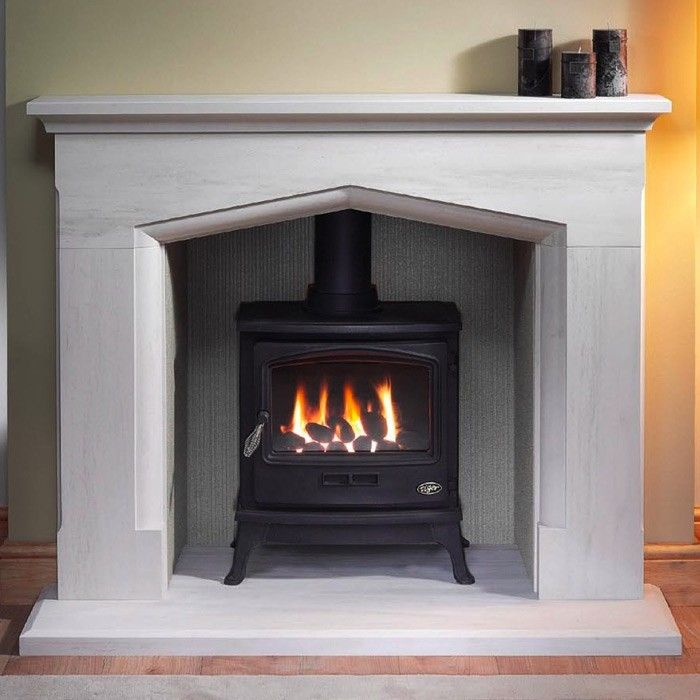 Gallery Coniston Stone Fireplace with optional Tiger Gas Stove - Marble  Fireplaces - Fireplace Packages - - Gallery Coniston Stone Fireplace With Optional Tiger Gas Stove