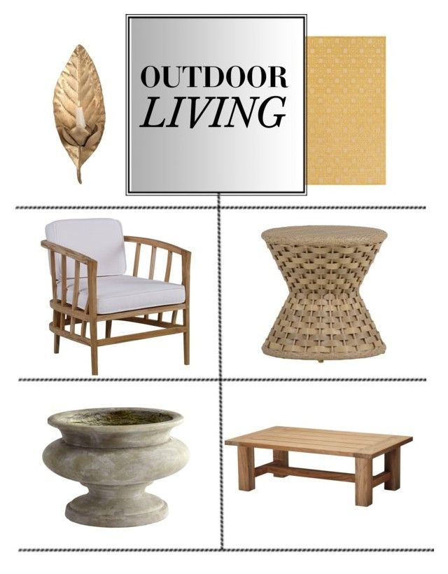 """Outdoors"" by kathykuohome ❤ liked on Polyvore featuring interior, interiors, interior design, home, home decor, interior decorating, outdoorliving and outdoordecor"