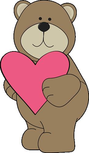 Valentine S Day Bear Clip Art Bear Valentines Valentine Cartoon Bear Stencil