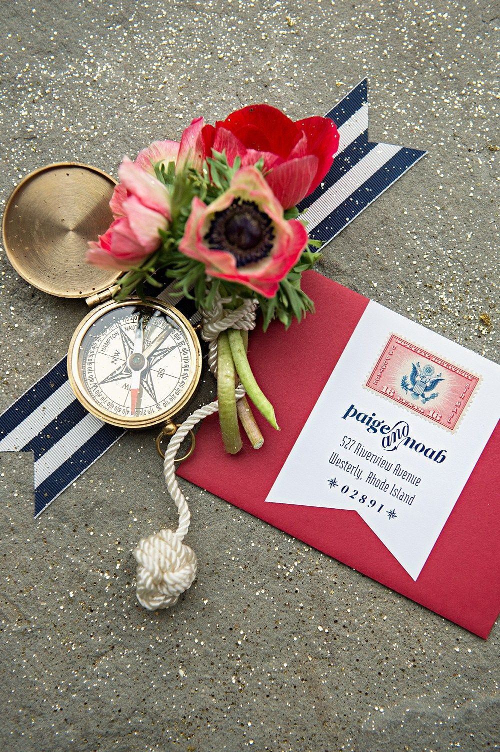 Beautiful Navy Blue And Hot Pink Wedding Invitations Image ...