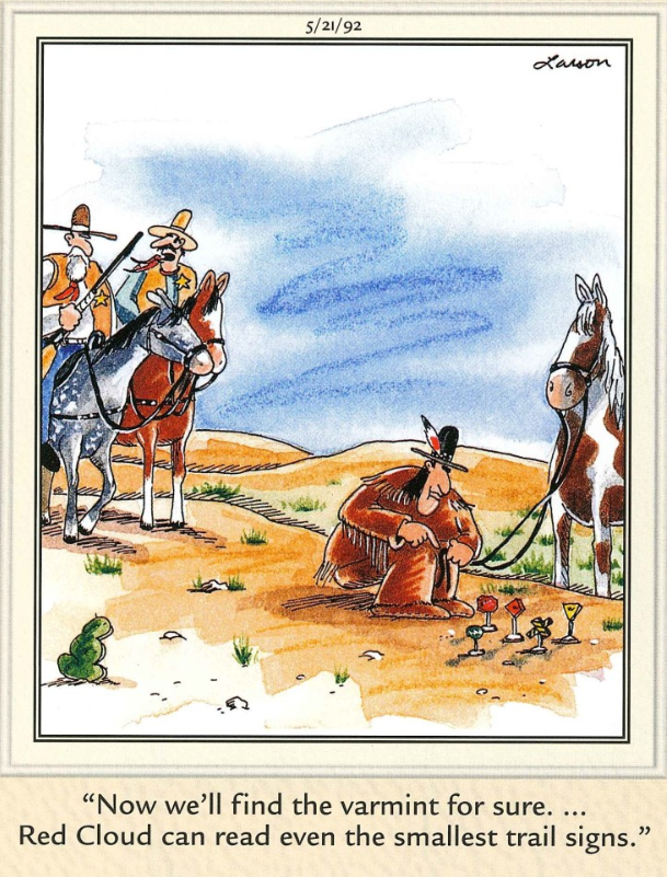 "The Far Side"" by Gary Larson. 