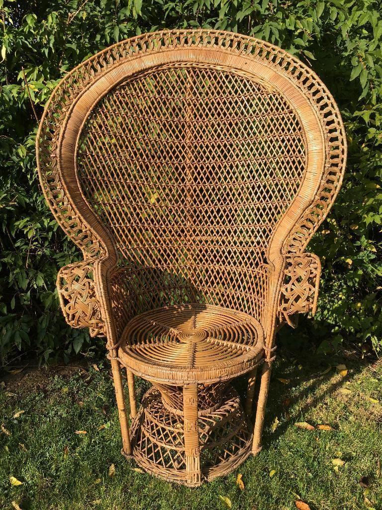 Wir Verkaufen Aus Platzgrunden Einen Gut Erhaltenen Rattan Korb Pfauen Thron Sessel Der Sessel Rattan Korb Pfauen Thron Relaxsessel Korbsessel Sessel