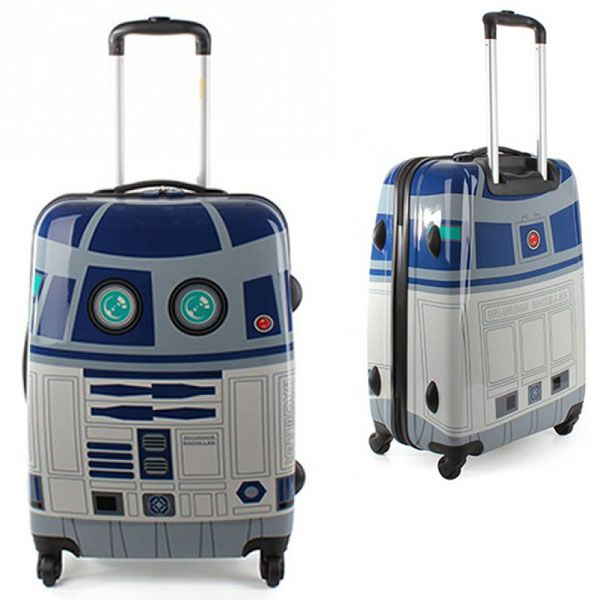 Why not be a complete geek and just go all the way with an R2-D2 suitcase?  But actually build motorized wheels and make a prototype of the personal vehicle - mobile home - advanced luggage hybrid.