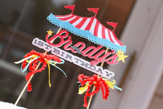 Circus Tent Cake Topper by VanessaGrantEvents on Etsy $20.00 & Circus Tent Cake Topper by VanessaGrantEvents on Etsy $20.00 ...