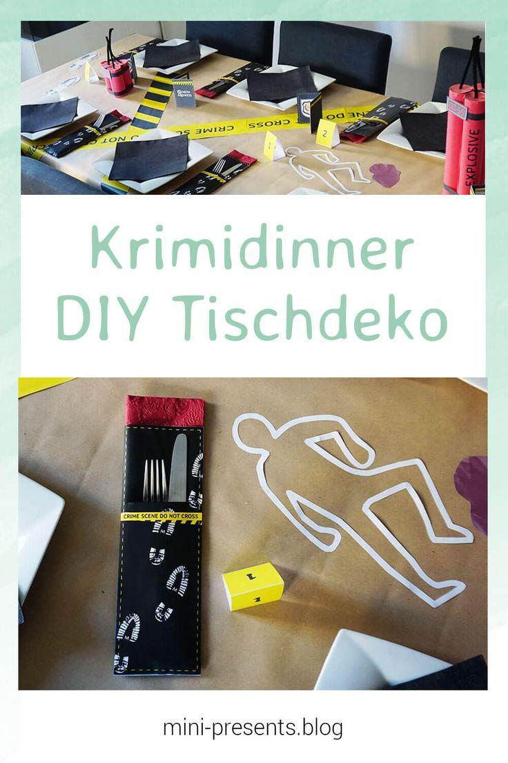 DIY Detektivparty Deko zum selber basteln, Escape Room & Krimidinner Deko | mini-presents Blog