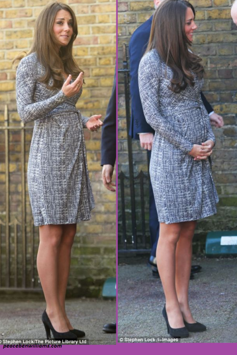 Inconsistent Print Patterns And Wrap Dresses Make For A Very Flattering Pregnancy Look Maternity Styles