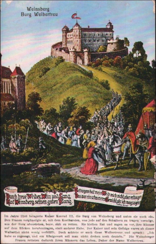 Alte Postkarte Von Weinsberg Adventure Travel Baden Wurttemberg