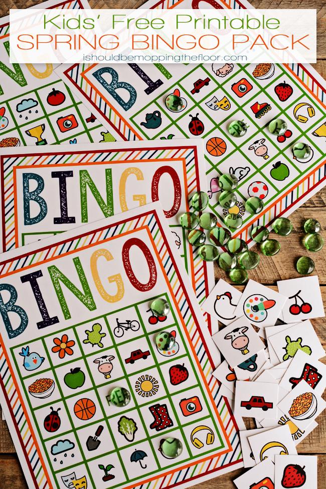 Free Printable Spring Bingo Pack Free games for kids