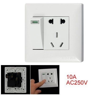 Amico 3 Pin Au Outlet 2 Pin Us Eu Socket Switch Wall Switch Plate By Amico 5 63 Designed For 2 Pin Us Plug 2 Pin Kid Room Decor Plates On Wall Kids Kitchen