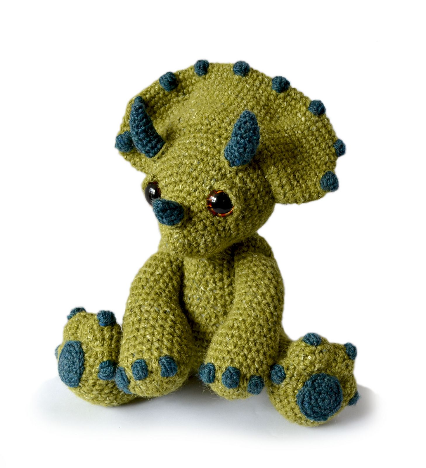 Ravelry: PatchworkMoose\'s Chester the Triceratops | Toy / Amigurumi ...