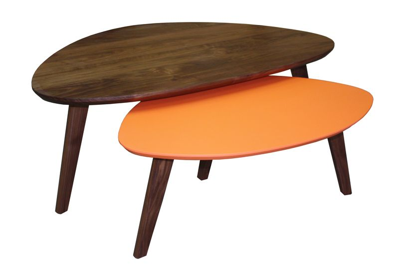 62520 62525 Tables Basses Gigognes Tripode Collection Vintage Retro Annee 50 Scandinave Noyer Naturel Bois Ma Table Basse Gigogne Table Basse Mobilier De Salon