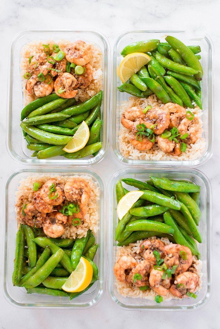 Healthy Shrimp Meal Prep #garlicshrimprecipes
