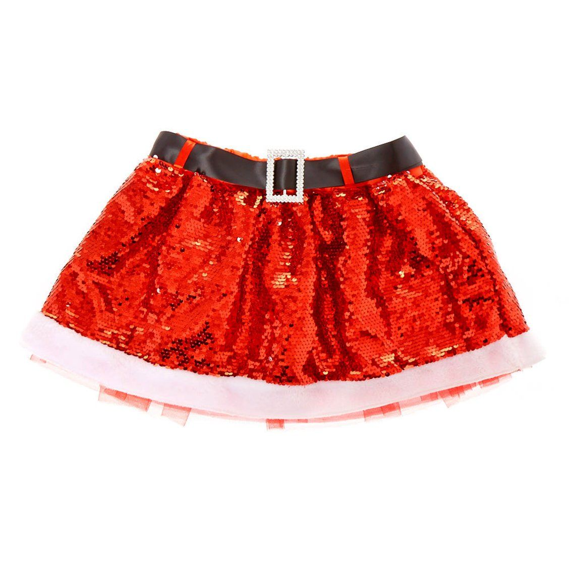 Santa Sequin Tutu  Jazz up the jolly Santa look with shimmering