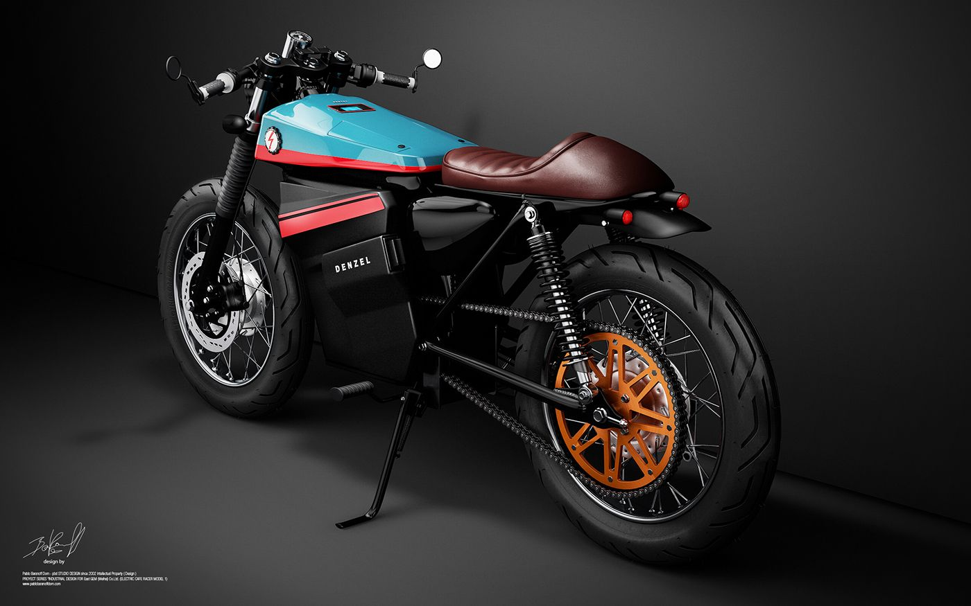 The project ECR (Electric Cafe Racer) parts from re-modelling a