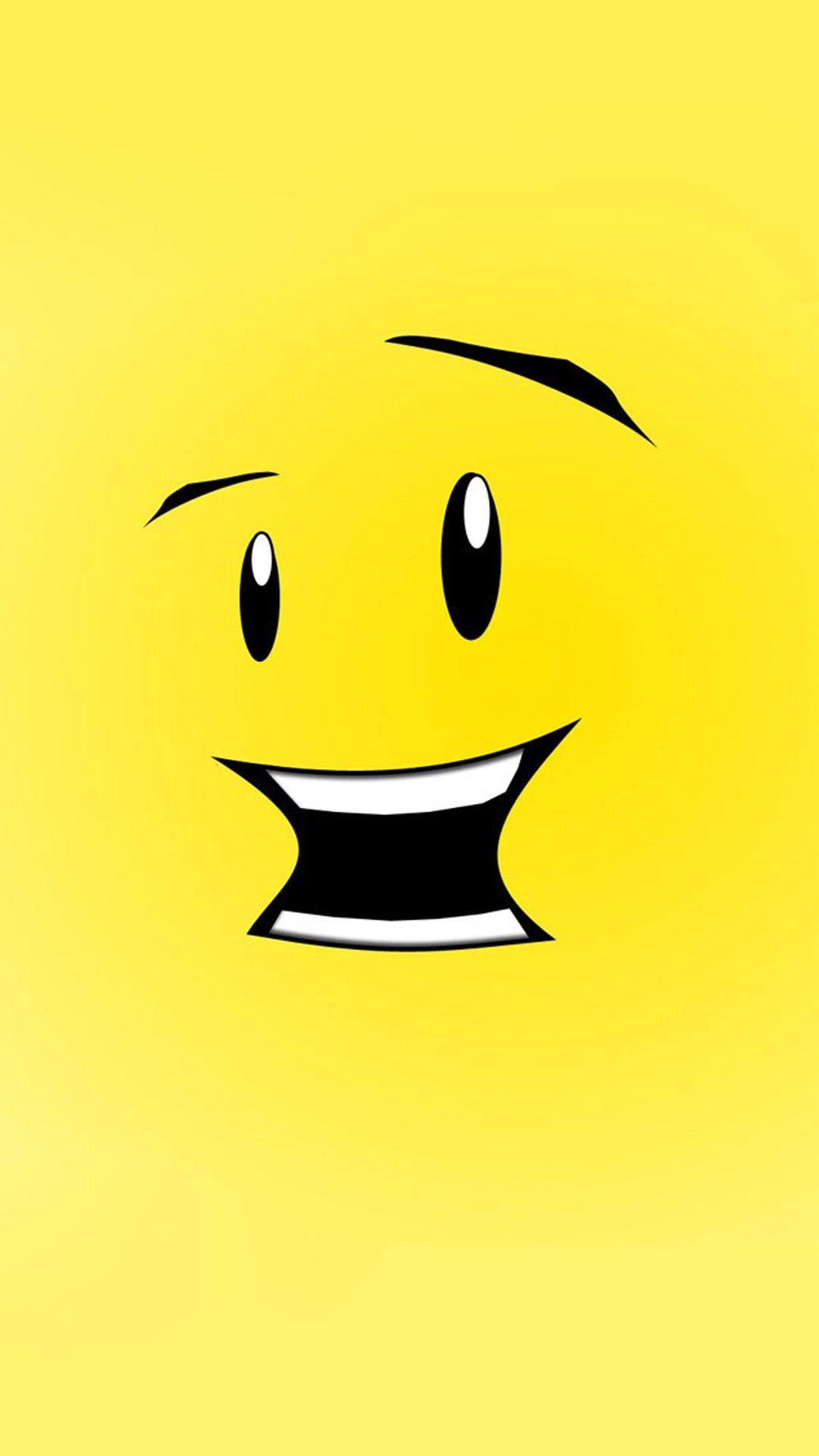 Cute Cartoon Smile Background iPhone 6 plus wallpaper