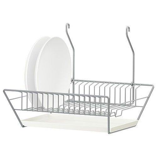 Amazon.com - Ikea Bygel Steel Dish Drainer w/ Removable Tray Can Be Hung or Freestanding - Dish Racks
